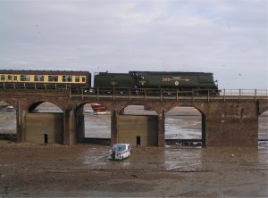 Tangmere brings the Kent Coast Express across the harbour