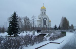 St. George's Church in the snow