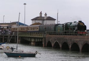 Lord Nelson on the viaduct at Folkestone Harbour