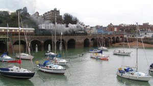 Tangmere crosses Folkestone Harbour