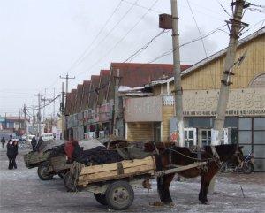 Street scene in Zhalai Nuoer