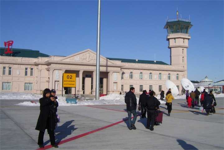 The terminal building at Manzhouli Airport