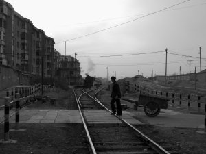 The crossing at Baiyin mine station