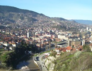 Sarajevo in the morning