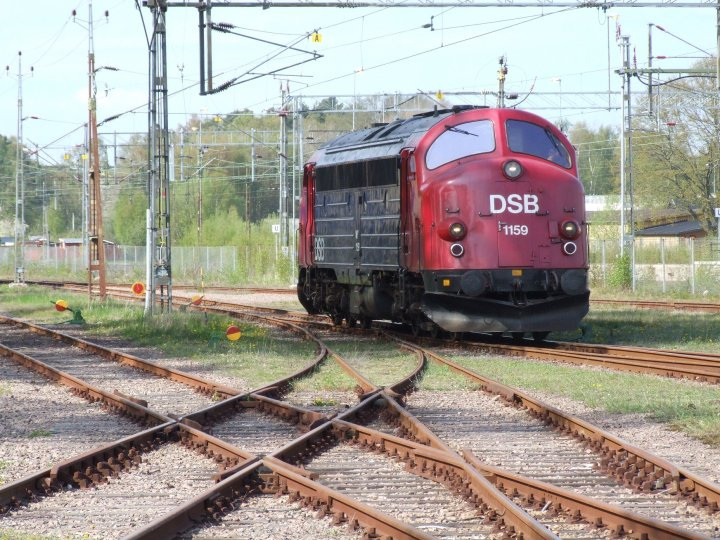 DSB class MY 1159 at Ängelholm on Friday 14th May 2010