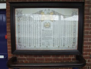 GWR Roll of Honour at Taunton Station