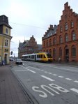 Hornbækbanen line train at Helsingør