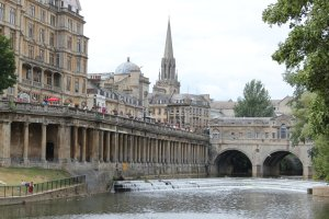 A view towards the Pulteney Bridge, Bath