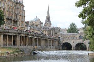 A view towards the Pulteney Bridge, Bath