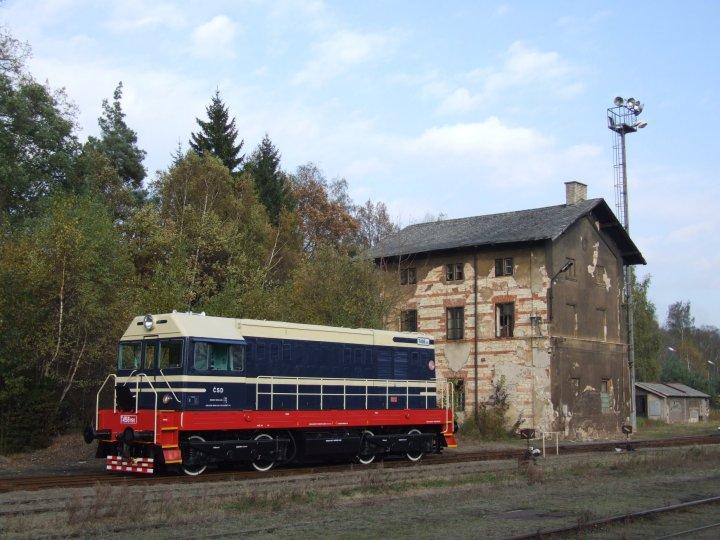 Diesel loco T458.1190 returns to the museum at Lužná u Rakovníka