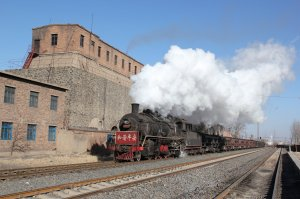 SY 1079 passes Gushan Yijing with loaded coal wagons