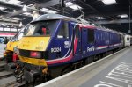 ScotRail electric locomotive 90024 hauled the sleeper into London Euston