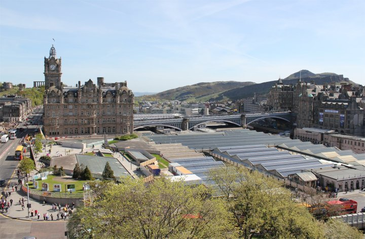 The view from the Scott monument - Calton Hill to Arthur's Seat