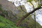 Underneath the walls of Edinburgh Castle
