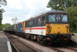 "Electro-diesels 73210 ""Selhurst"" and 73109 'Battle of Britain 50th Anniversary' at Thuxton"