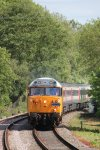 "Class 50 diesel 50019 ""Ramillies"" drags an East Midlands Trains HST towards Thuxton"