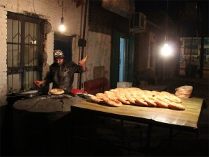 Uyghur bread stall and stove