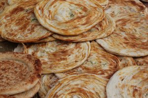 Uyghur flat bread with chives