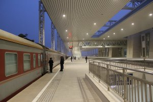 The hangar like space of Dunhuang station