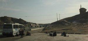 A brief stop at the boundary between Xinjiang and Gansu Province
