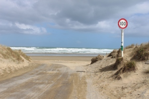 The entrance to ninety mile beach