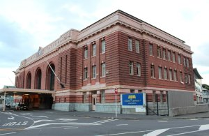 The old Auckland Railway Station, now luxury flats