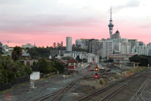 The old terminus at Auckland at sunset on 23rd March 2013
