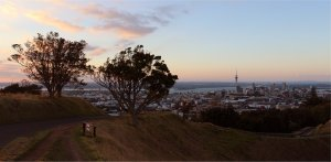 Mount Eden at sunset