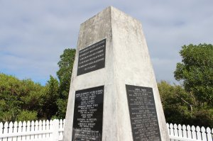 Monument to those who lost their lives on Somes Island during their quarantine