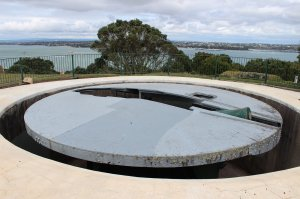 Disappearing gun at Mount Victoria
