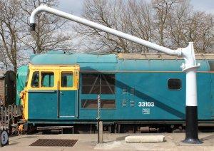 Class 33 diesel 'Swordfish' at Horsted Keynes