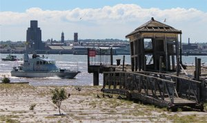 HMS Ranger on the Mersey