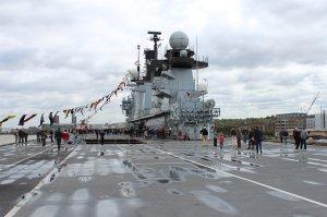 The flight deck of HMS Illustrious