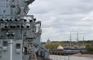 A view of Greenwich from HMS Illustrious