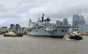 HMS Illustrious mid-turn