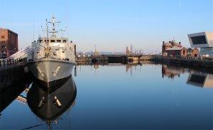 HMS Pembroke in Canning Half Tide Dock