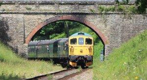 Class 33 locomotive 'Swordfish' on the Bluebell Railway
