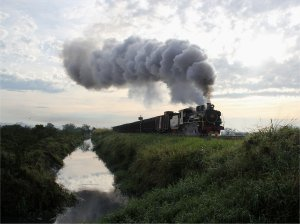 Morning steam on the Ferrovia Dona Teresa Cristina