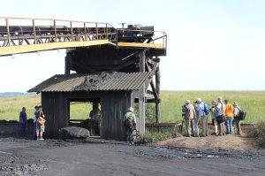 Photographing coal loading at Rio Fiorita