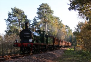 SECR C-class No. 592 hauls a mid-afternoon train to East Grinstead