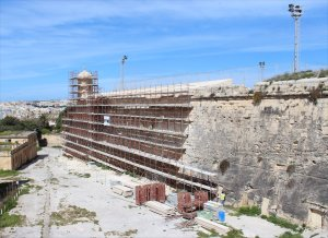 Restoration of the fortifications in Valletta