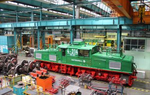 Class EL2 locomotive 4-314 in the workshops