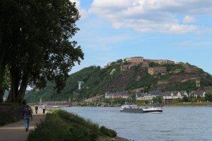 Strolling along the Rhein promenade