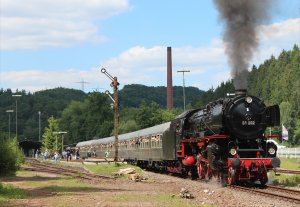 Class 01 Pacific 01 202 heads away from Pirmasens-Nord on Saturday 31st May 2014