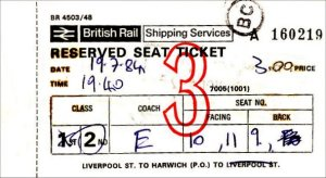 British Rail Shipping Services Ticket