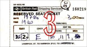 British Rail Shipping Services Ticket