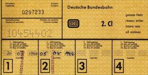 Deutsche Bundesbahn Ticket
