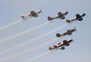 The colourful Aerostars aerobatic display team