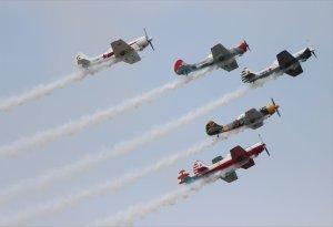 The colourful Aerostars aerobatic display team
