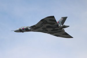 Vulcan XH558 at the Farnborough Air Show in 2014
